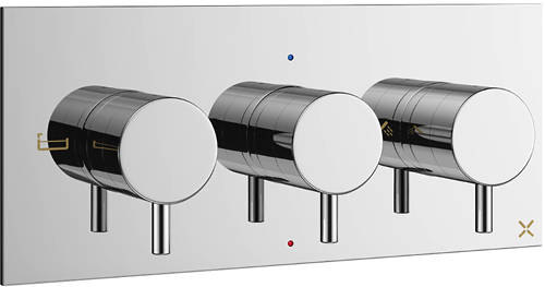 Additional image for Thermostatic Shower Valve With 3 Outlets (3 Handles).