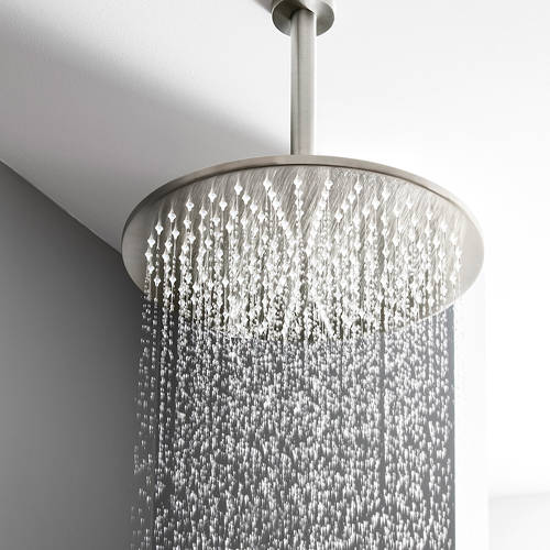 Additional image for Round Shower Head 300mm (Brushed Stainless Steel).