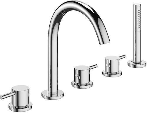 Additional image for Bath Shower Mixer Tap (5 Hole, Chrome).