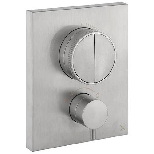 Additional image for Crossbox Push 2 Outlet Shower Valve (S Steel).