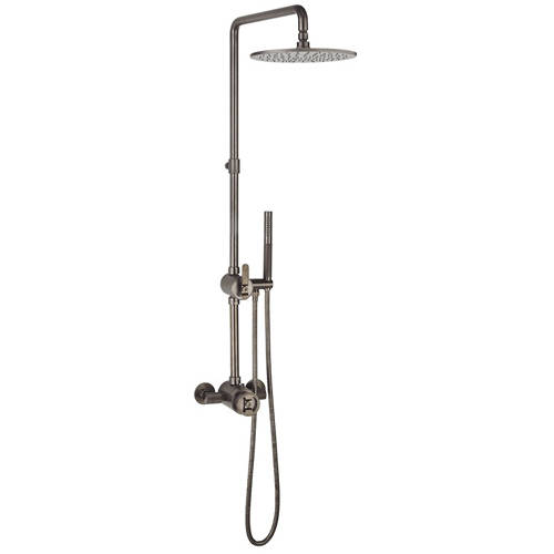 Additional image for Thermostatic Multifunction Shower Set (B Black).
