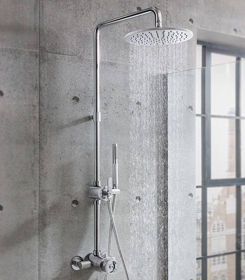 Additional image for Thermostatic Multifunction Shower Set (Chrome).