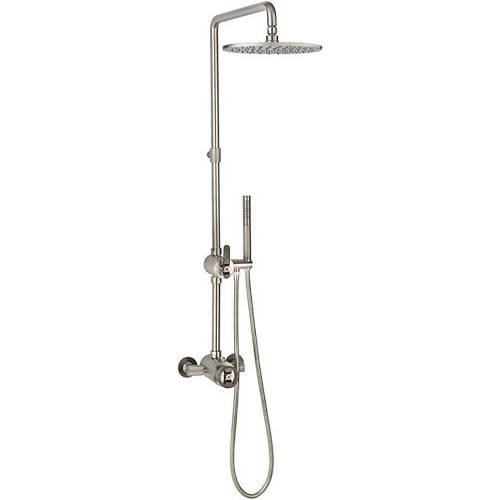 Additional image for Thermostatic Shower Set (Nickel & Black).
