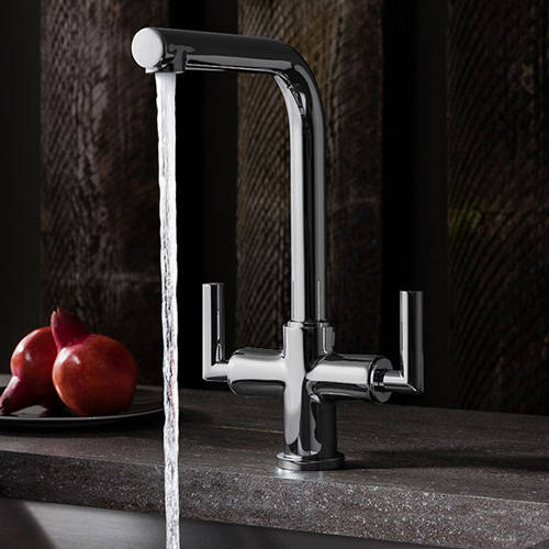 Additional image for Tropic Dual Control Kitchen Tap (Chrome).