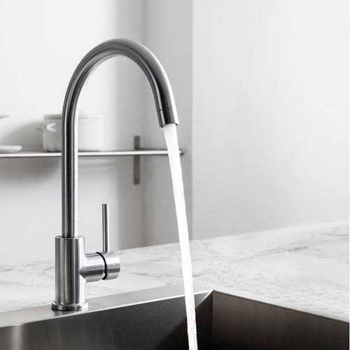 Additional image for Tropic Side Control Kitchen Tap (Stainless Steel).