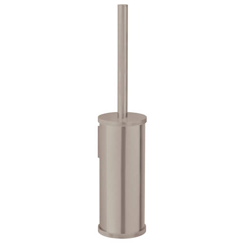 Additional image for Wall Mounted Toilet Brush & Holder (Brushed Nickel).