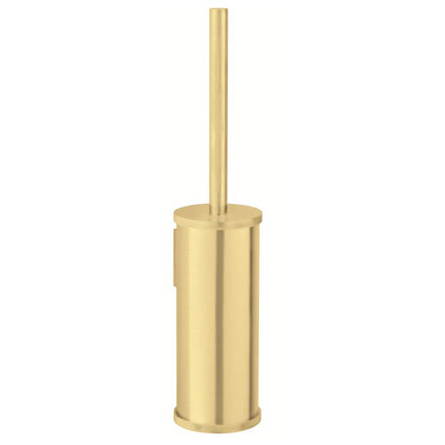Additional image for Wall Mounted Toilet Brush & Holder (Brushed Brass).