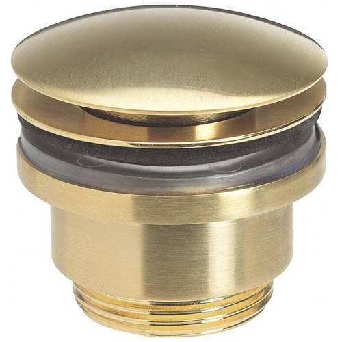 Additional image for Click Clack Basin Waste (Brushed Brass).