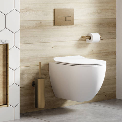 Additional image for Toilet Roll Holder (Brushed Brass).