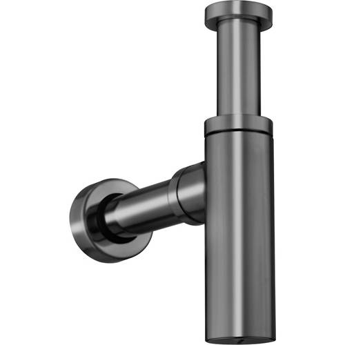 Additional image for Bottle Trap With 400mm Pipe (Brushed Black).