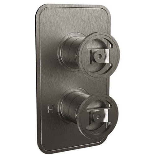 Additional image for Thermostatic Shower Valve (1 Outlet, Brushed Black).