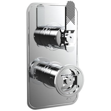 Additional image for Thermostatic Shower Valve (1 Outlet, Chrome).