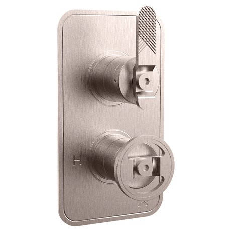 Additional image for Thermostatic Shower Valve (1 Outlet, Brushed Nickel).