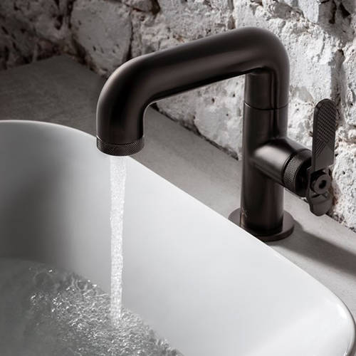 Additional image for Basin Mixer Tap With Lever Handle (Brushed Black).