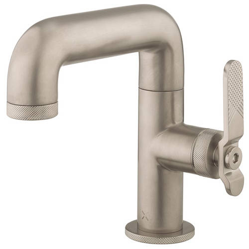 Additional image for Basin Mixer Tap With Lever Handle (Brushed Nickel).