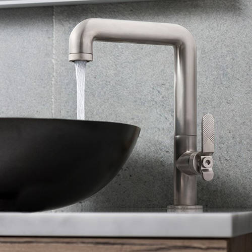 Additional image for Tall Basin Mixer Tap With Lever Handle (Brushed Nickel).