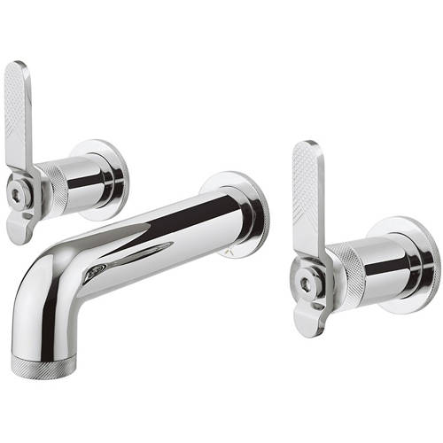 Additional image for Three Hole Wall Mounted Basin Mixer Tap (Chrome).