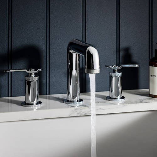 Additional image for Three Hole Deck Mounted Basin Mixer Tap (Chrome).