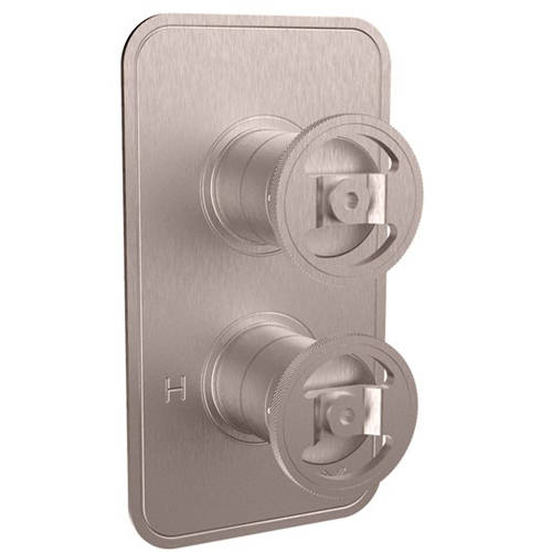 Additional image for Thermostatic Shower Valve (2 Outlets, Brushed Nickel).