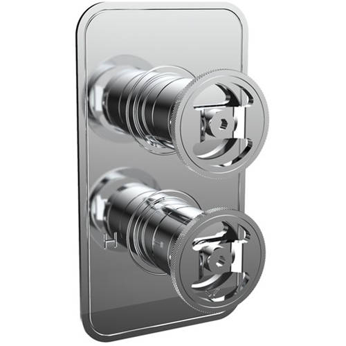 Additional image for Thermostatic Shower Valve (3 Outlets, Chrome).