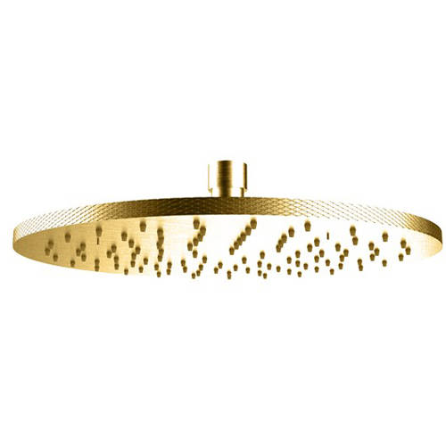 Additional image for Round Shower Head 250mm (Brushed Brass).