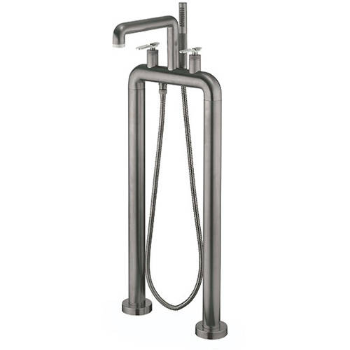 Additional image for Free Standing BSM Tap, Nickel Lever Handles (Br Black).
