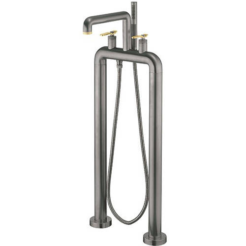 Additional image for Free Standing BSM Tap, Brass Lever Handles (Br Black).
