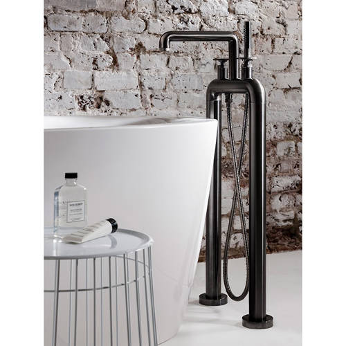 Additional image for Free Standing BSM Tap With Wheel Handles (B Black).