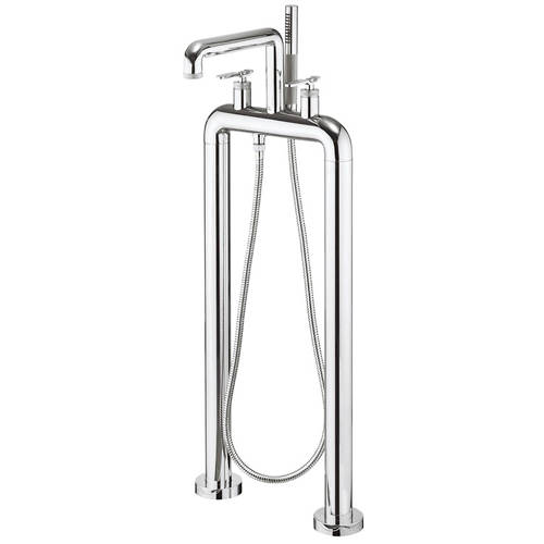 Additional image for Free Standing BSM Tap With Lever Handles (Chrome).