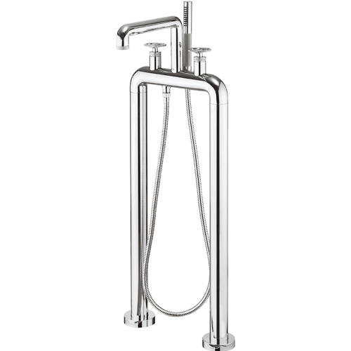 Additional image for Free Standing BSM Tap With Wheel Handles (Chrome).