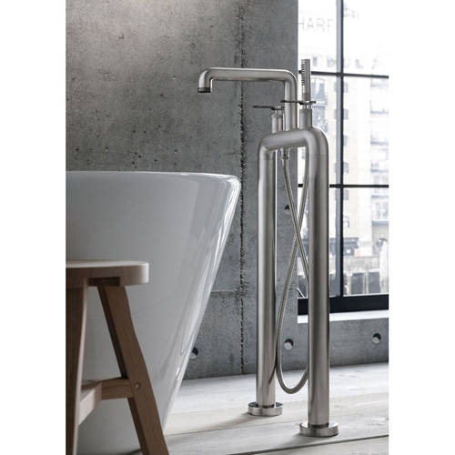 Additional image for Free Standing BSM Tap, Black Lever Handles (Br Nickel).