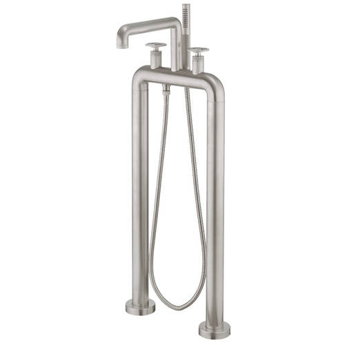 Additional image for Free Standing BSM Tap With Wheel Handles (B Nickel).