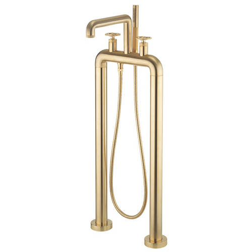 Additional image for Free Standing BSM Tap With Wheel Handles (B Brass).