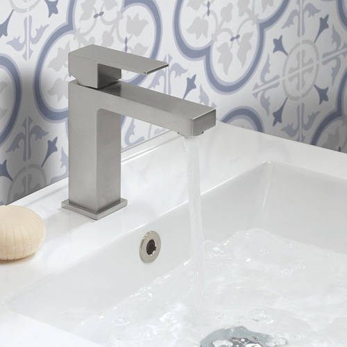 Additional image for Basin & Bath Filler Tap Pack (Brushed Stainless Steel).