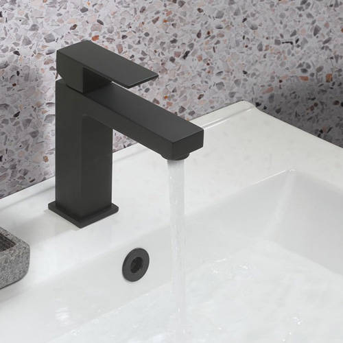 Additional image for Basin & Bath Shower Mixer Tap Pack (Matt Black).