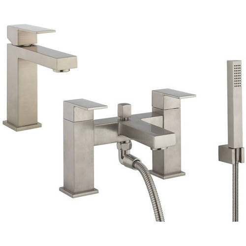 Additional image for Basin & Bath Shower Mixer Tap Pack (Br Stainless Steel).