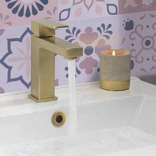 Additional image for Basin Mixer Tap (Brushed Brass).
