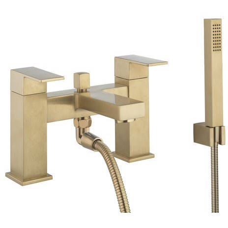 Additional image for Bath Shower Mixer Tap & Kit (Brushed Brass).