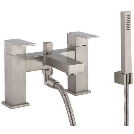 Additional image for Bath Shower Mixer Tap & Kit (Brushed Stainless Steel).
