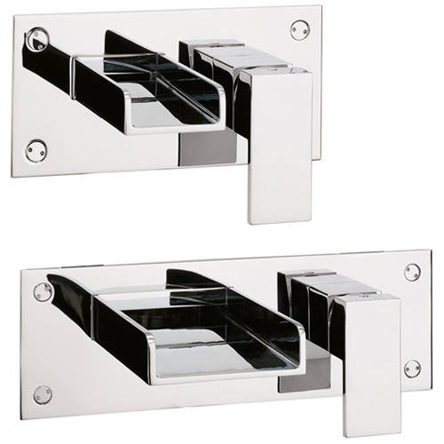 Additional image for Wall Mounted Basin & Bath Filler Tap Pack.