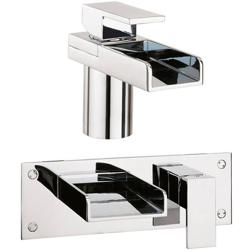 Additional image for Basin & Wall Mounted Bath Filler Tap.
