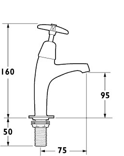 Additional image for High Neck Sink Taps (pair)