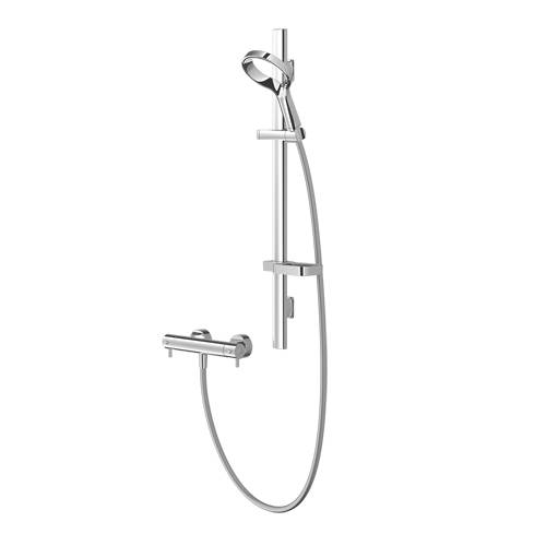 Additional image for Aurajet Aio Cool Thermostatic Bar Shower Kit (Chrome)