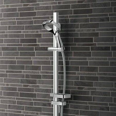 Additional image for Aurajet Aio Rail Shower (Chrome).