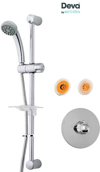 Additional image for Concealed Thermostatic Shower Valve, Single Mode Kit & Regulator.