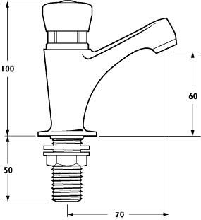 Additional image for Self Closing Pillar Basin Tap (individual).
