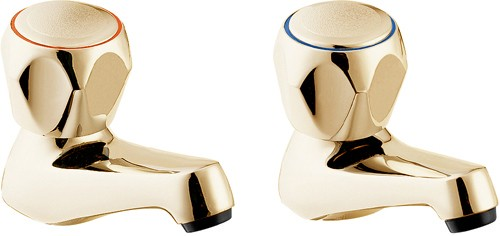 Additional image for Basin Taps (Gold, Pair).
