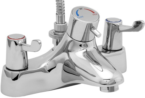 Additional image for TMV2 Thermostatic Bath Shower Mixer Tap With Shower Kit.