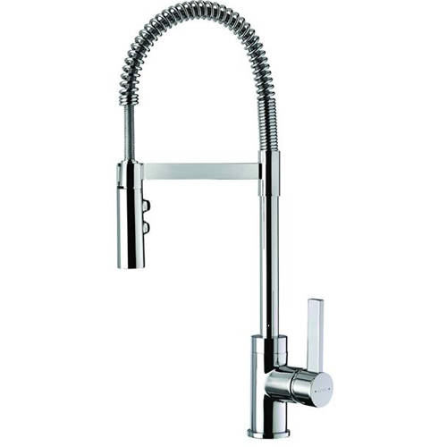 Additional image for Gaston Pull-Down Spray Kitchen Tap (Chrome).