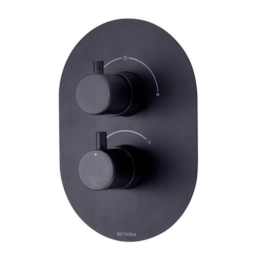 Additional image for Kaha Concealed Thermostatic Mixer Shower Valve (Black, 2 Outlets).